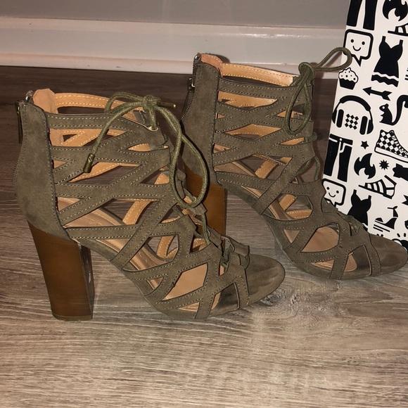 BAMBOO Shoes - Open Toe Heels ☘️